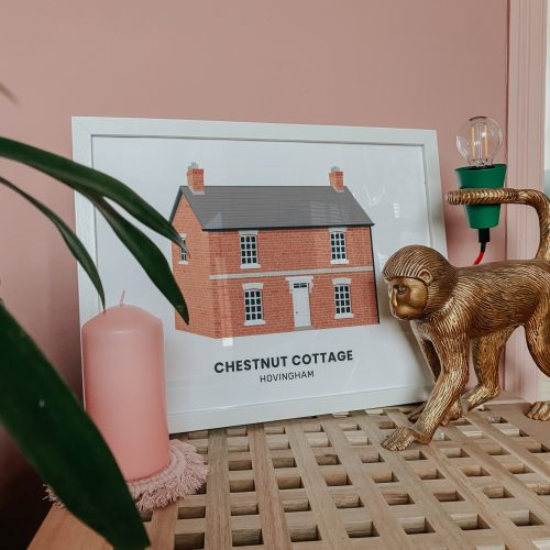 personalised house print illustration