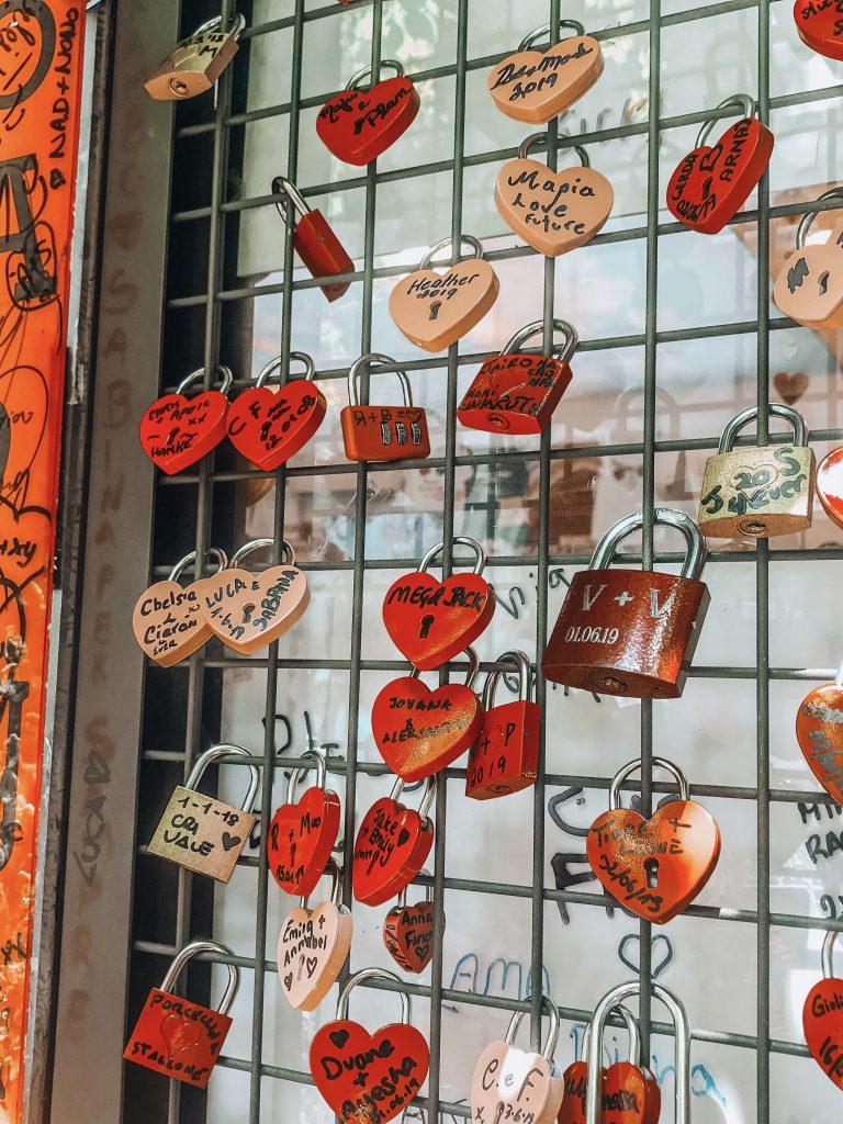 Verona love lock